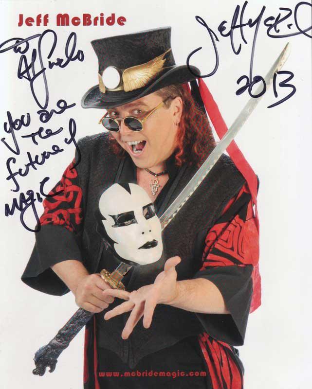 "Las Vegas Nevada Oktober 2013. Jeff McBrice met alfredo Lorenzo ""You are the future of magic"""